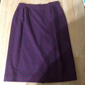 Pendelton Houndstooth Wool Skirt